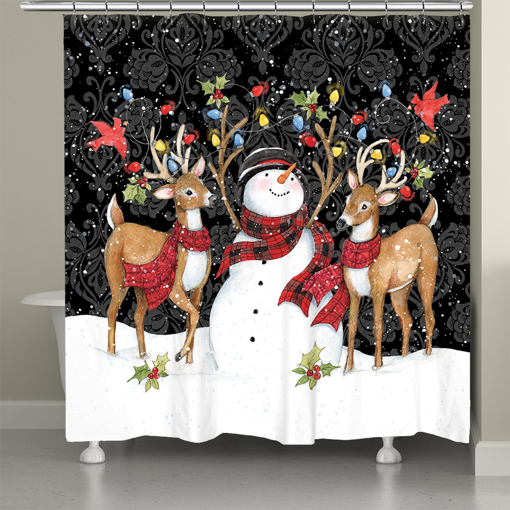 Modern Day Christmas Shower Curtain