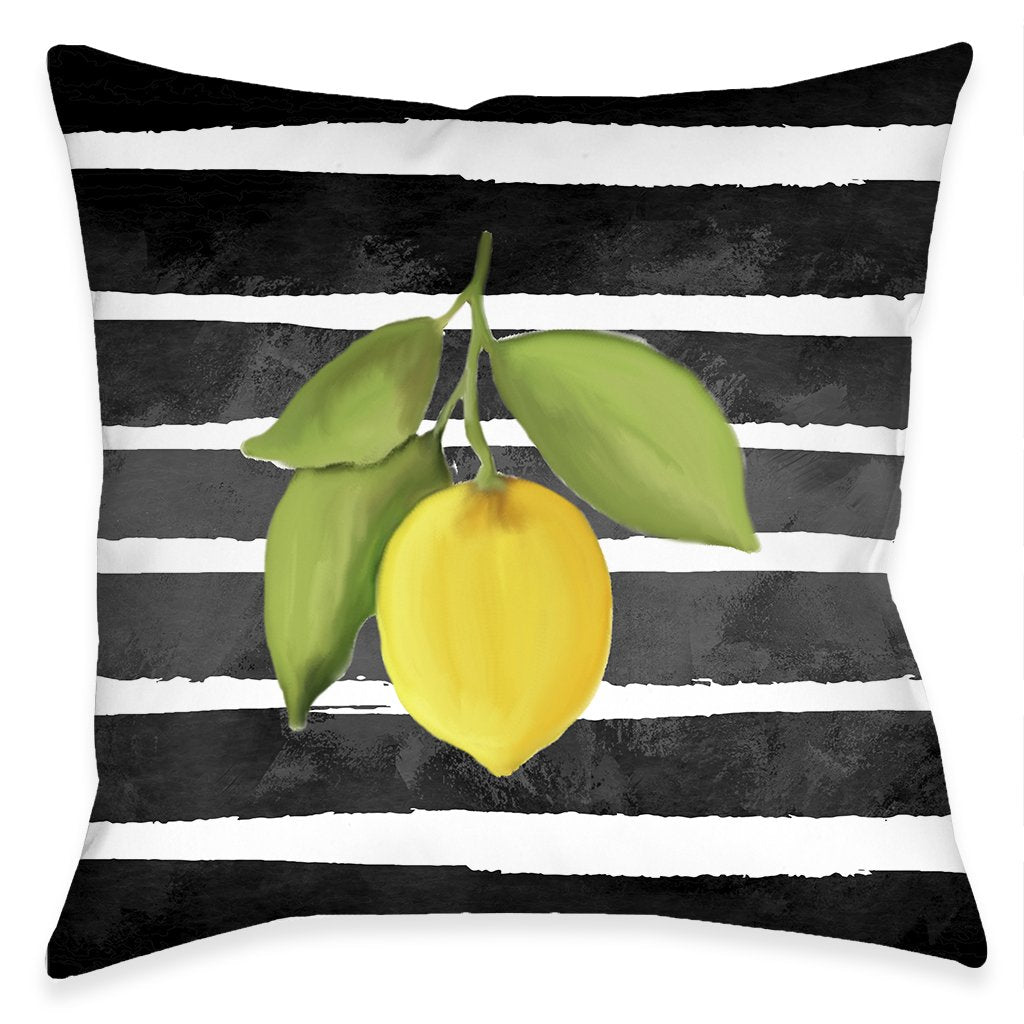 Modern Lemons Outdoor Decorative Pillow