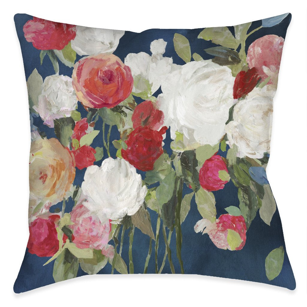 Moody Florals Outdoor Decorative Pillow