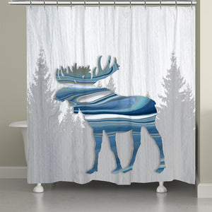Moose Lodge Shower Curtain