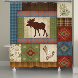 Moose Patch Shower Curtain