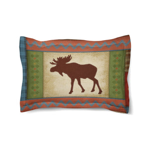 Moose Patch Comforter Sham