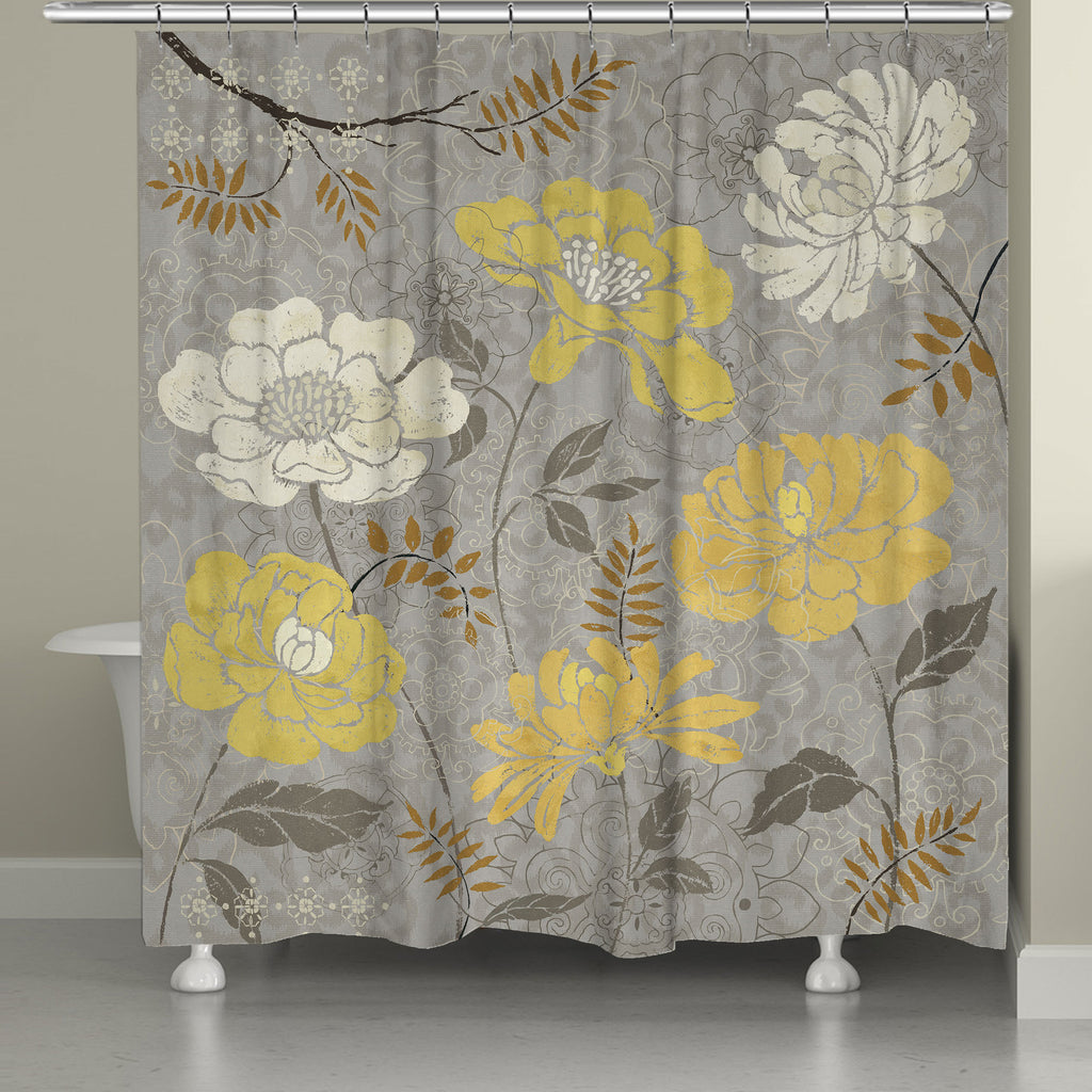 Gold Morning Tones Shower Curtain
