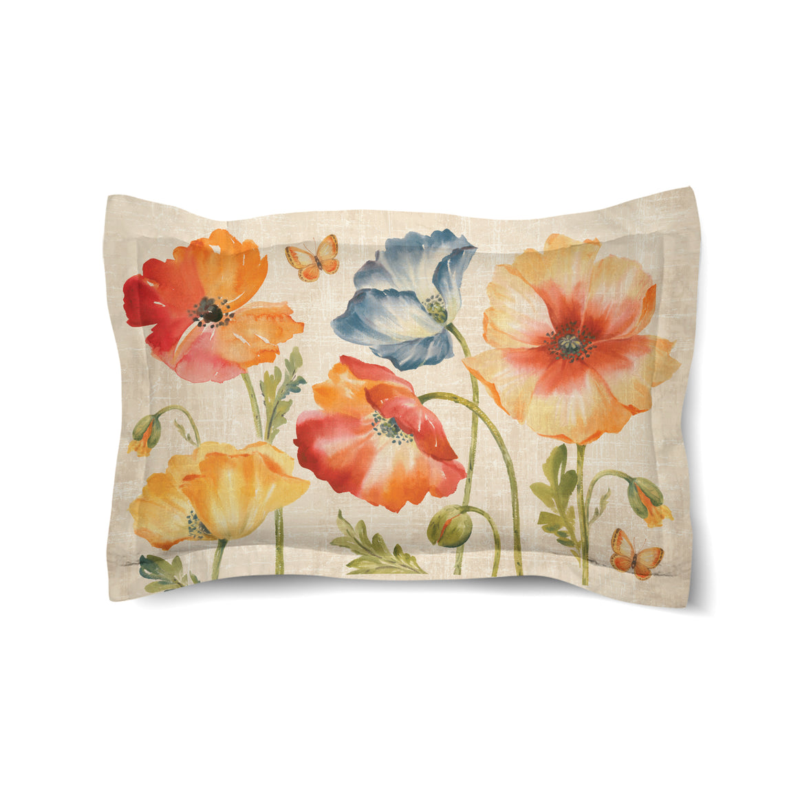 Watercolor Poppies Duvet Sham