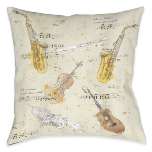 Musical Gifts Outdoor Decorative Pillow