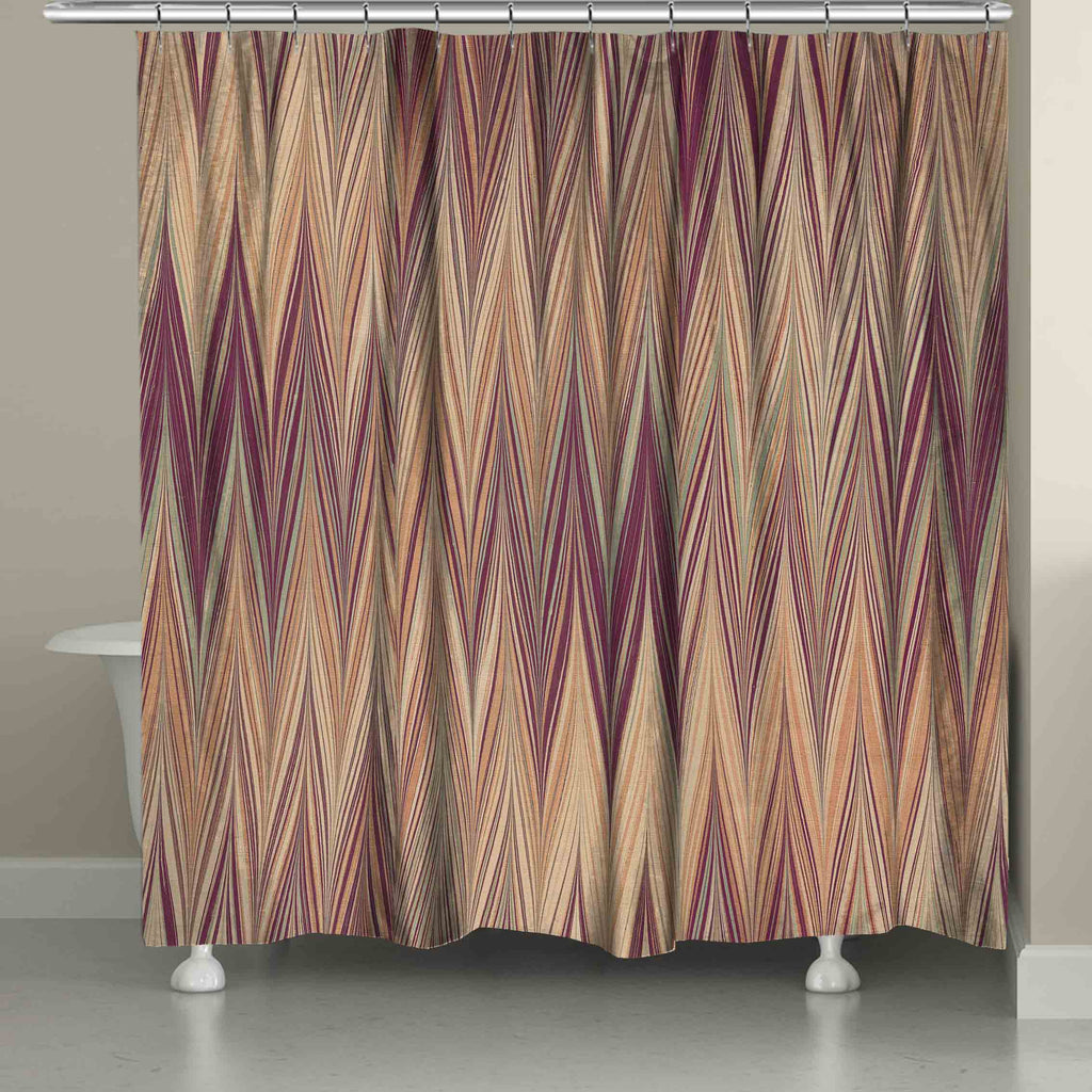 Muted Chevron Shower Curtain Laural Home