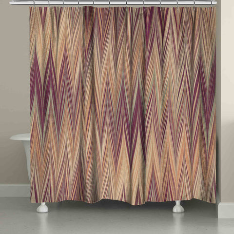 Muted Chevron Shower Curtain