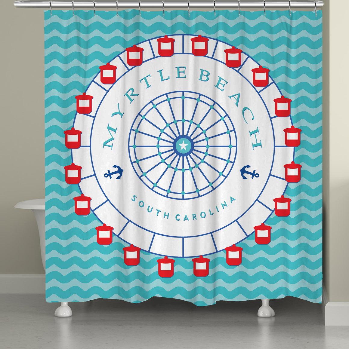 Myrtle Beach Shower Curtain