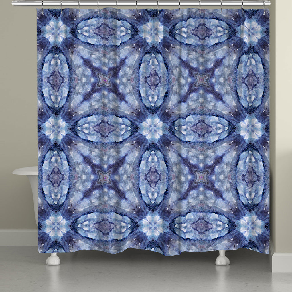 Mystery Blue Shower Curtain Laural Home