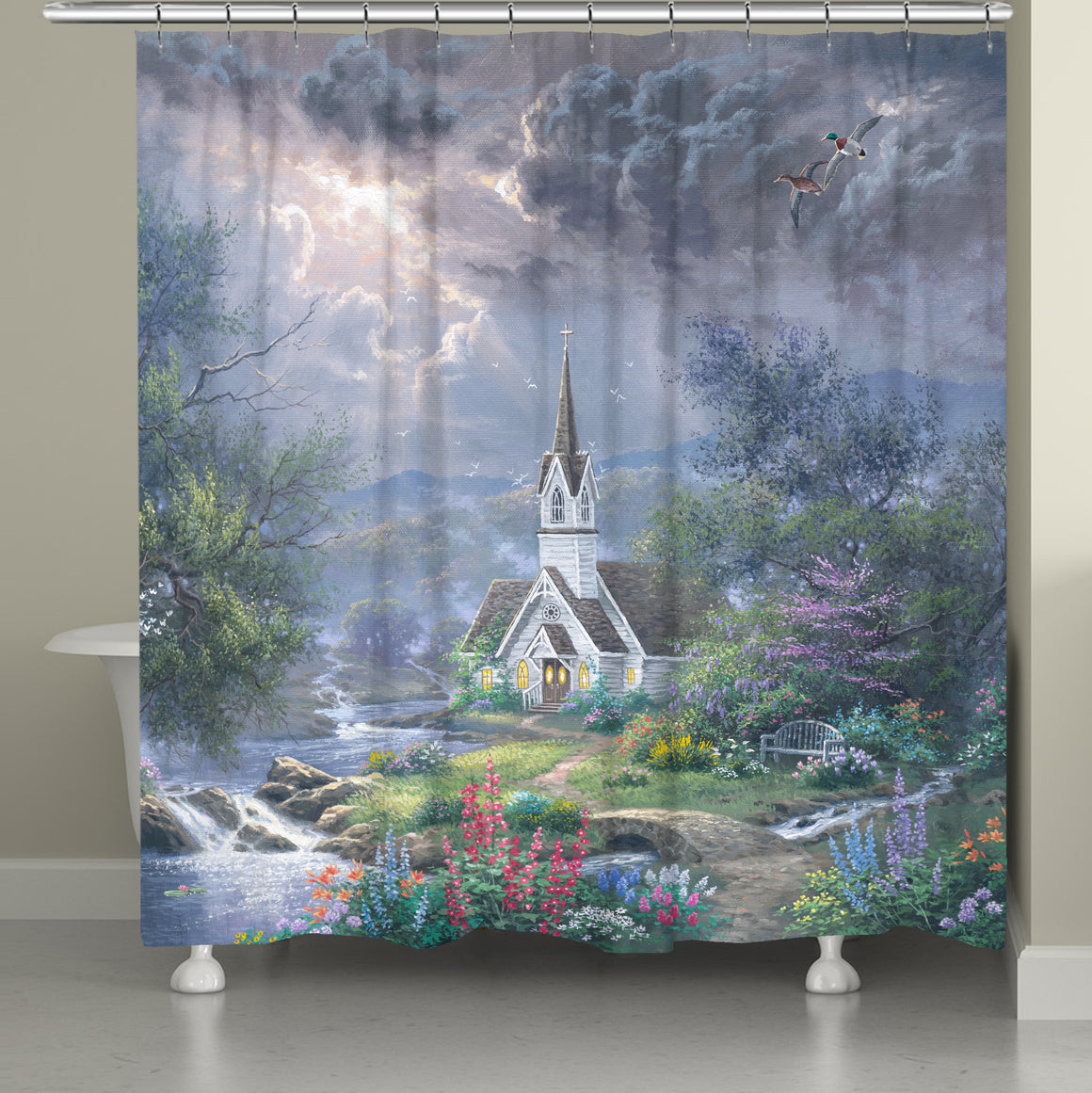 Mystical Church Shower Curtain