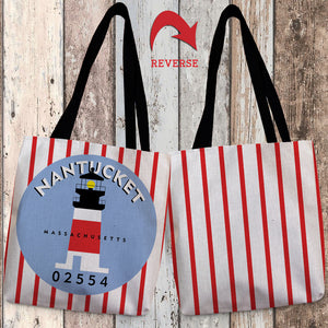 Nantucket I Canvas Tote Bag