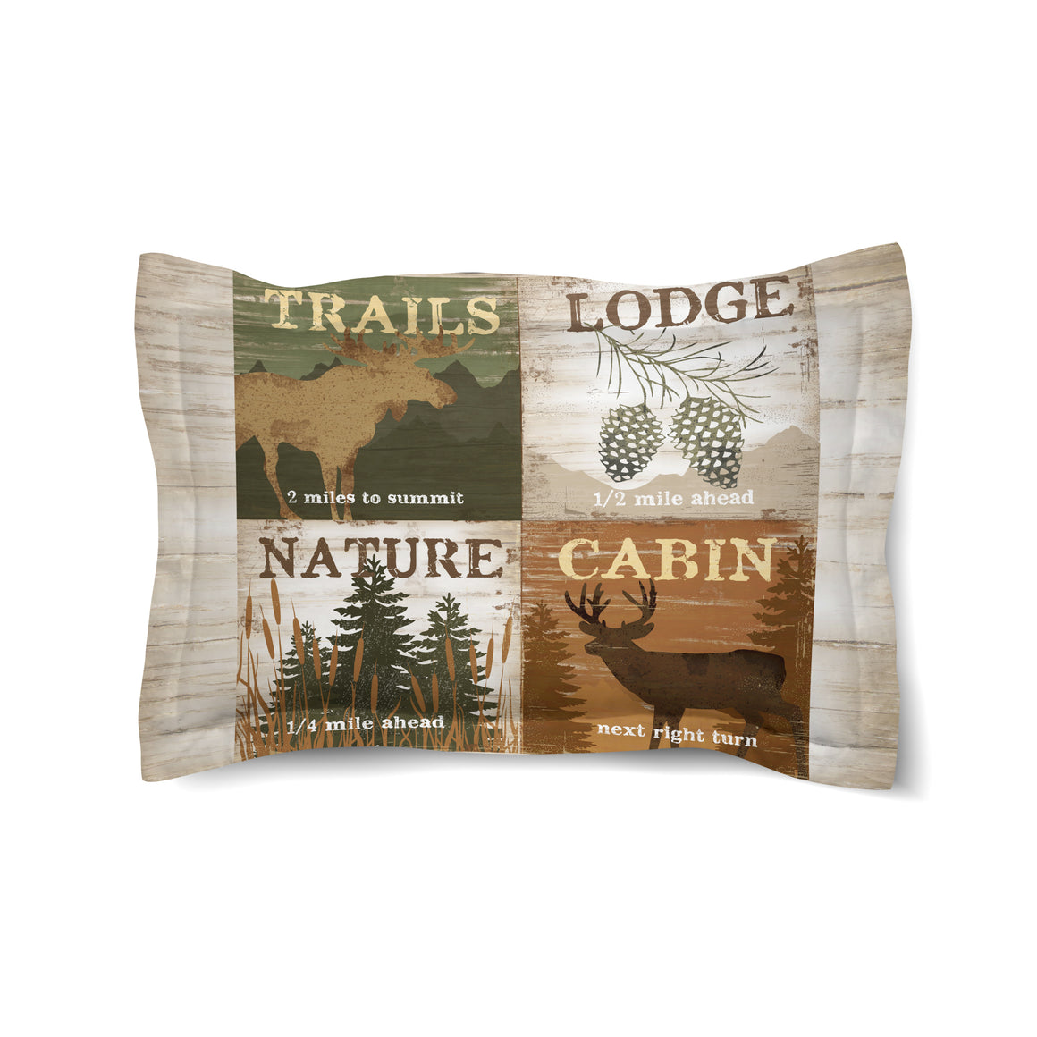 Nature and Lodge Comforter Sham