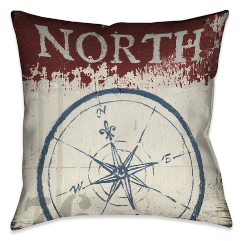 Nautical North South Indoor Decorative Pillow