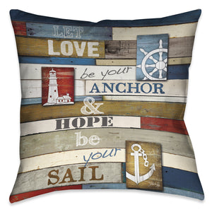 Nautical Anchor Inspiration Pillow