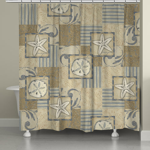 Neutral Coastal Shower Curtain
