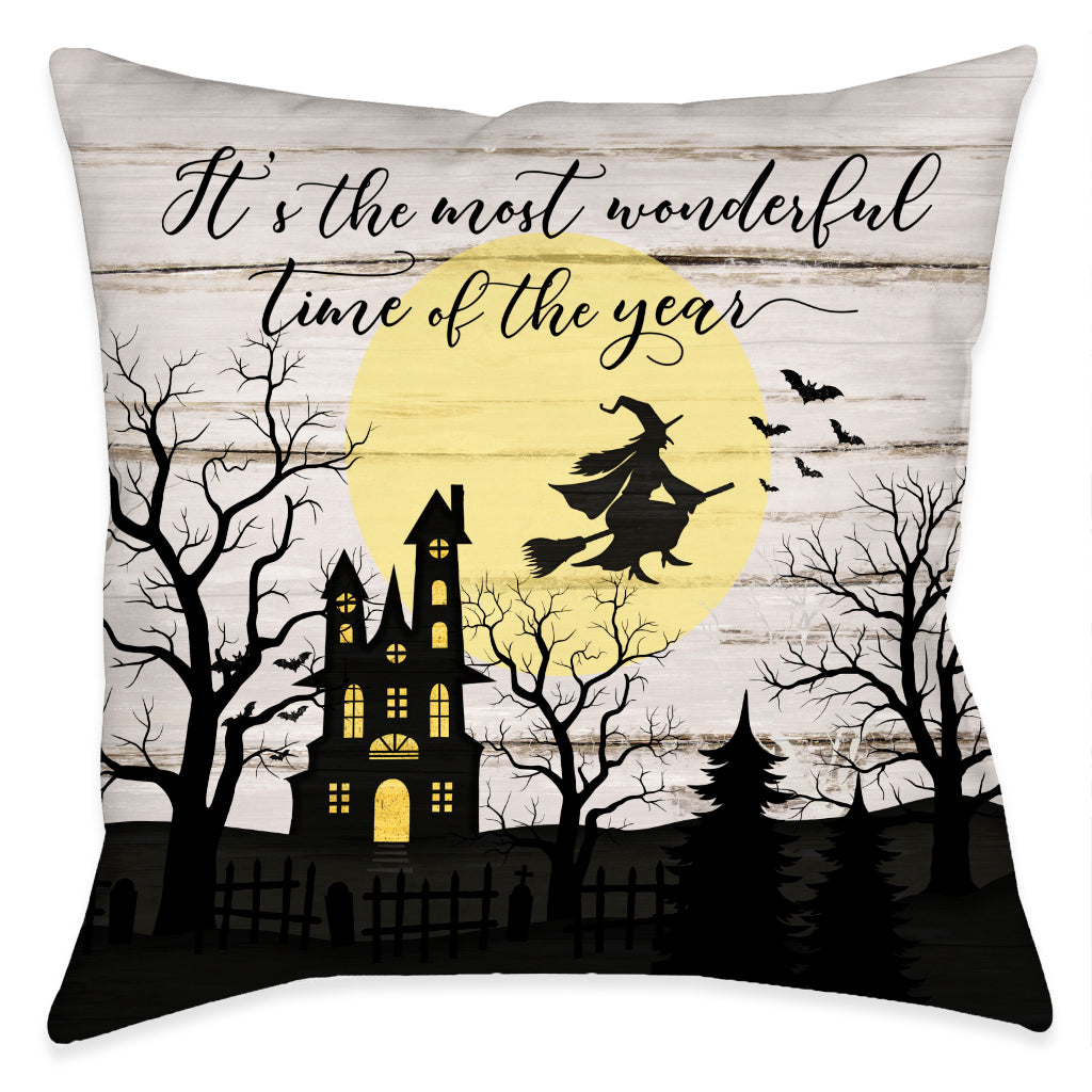 Night Hauntings Outdoor Decorative Pillow