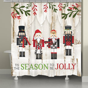 Nutcracker Christmas Shower Curtain
