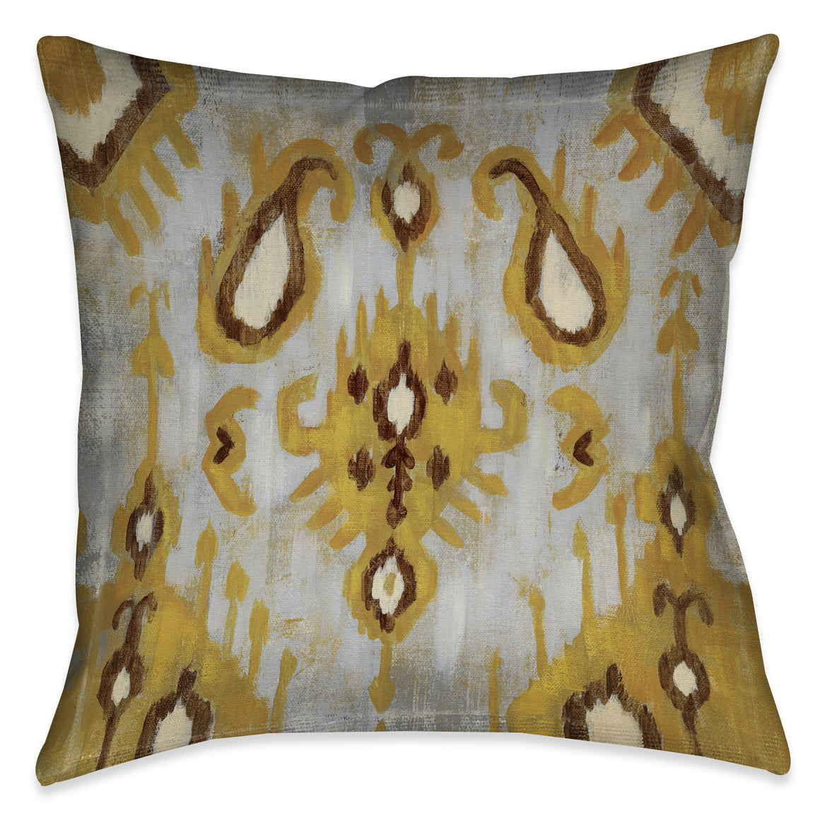 Ochre Ikat I Indoor Decorative Pillow