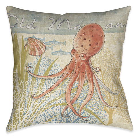 Oceana Octopus Indoor Decorative Pillow