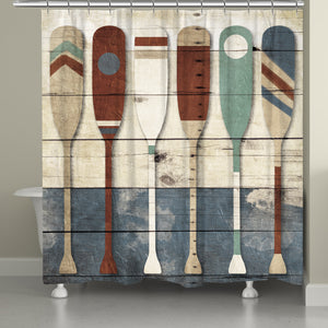 Playful Oars Shower Curtain