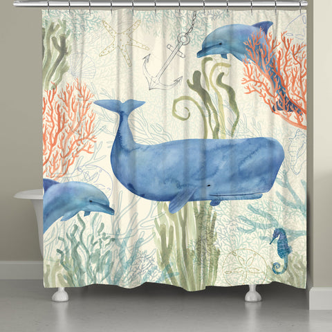 Ocean Whimsy Shower Curtain