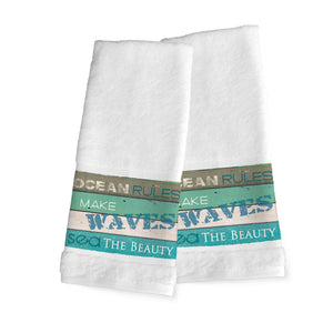 Ocean Rules Hand Towels