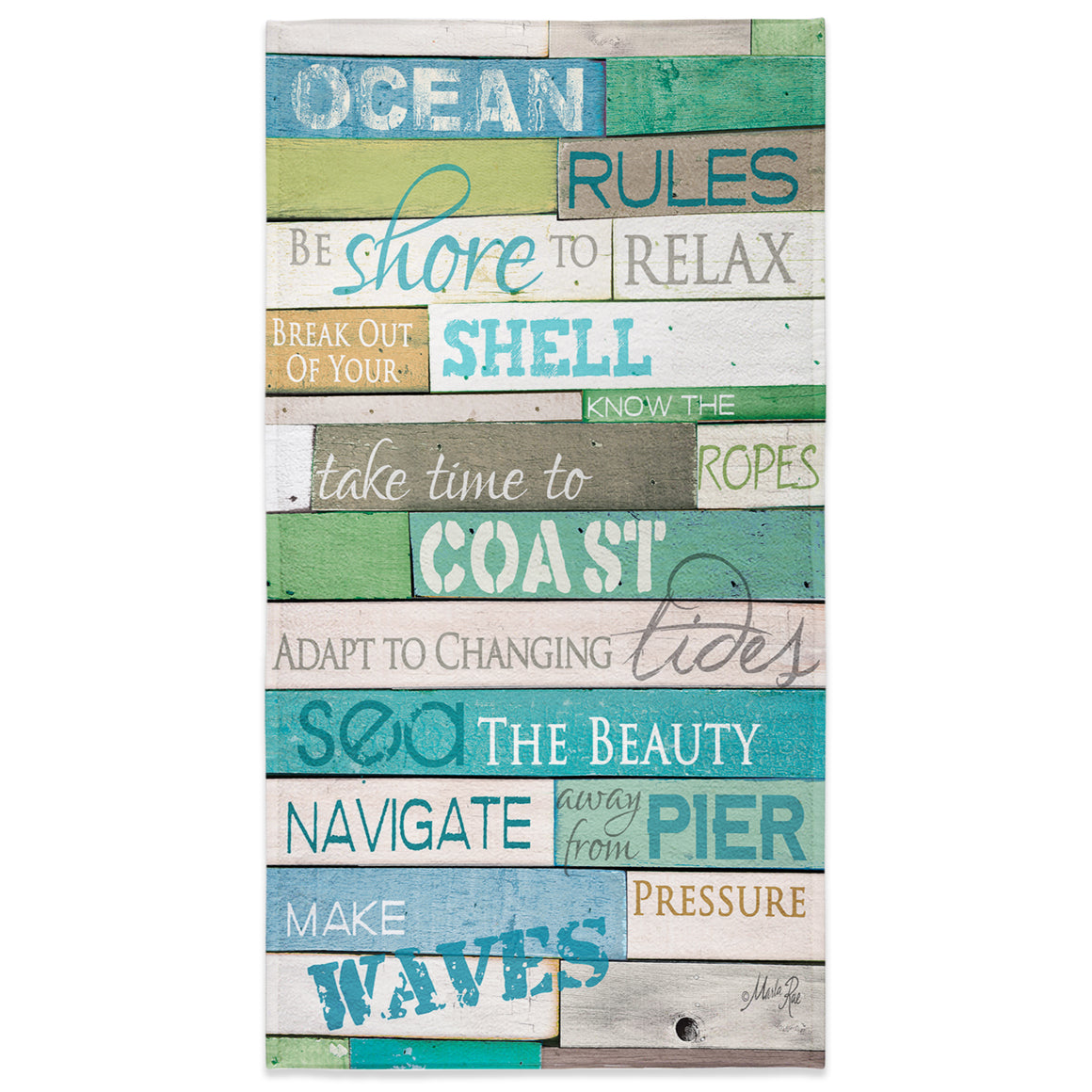 Ocean Rules Beach Towel