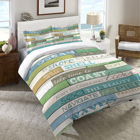 Ocean Rules Duvet Cover