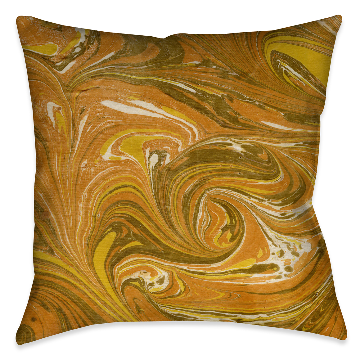 Ochre Marble Decorative Pillow