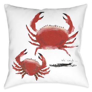 Oh Crab Outdoor Decorative Pillow