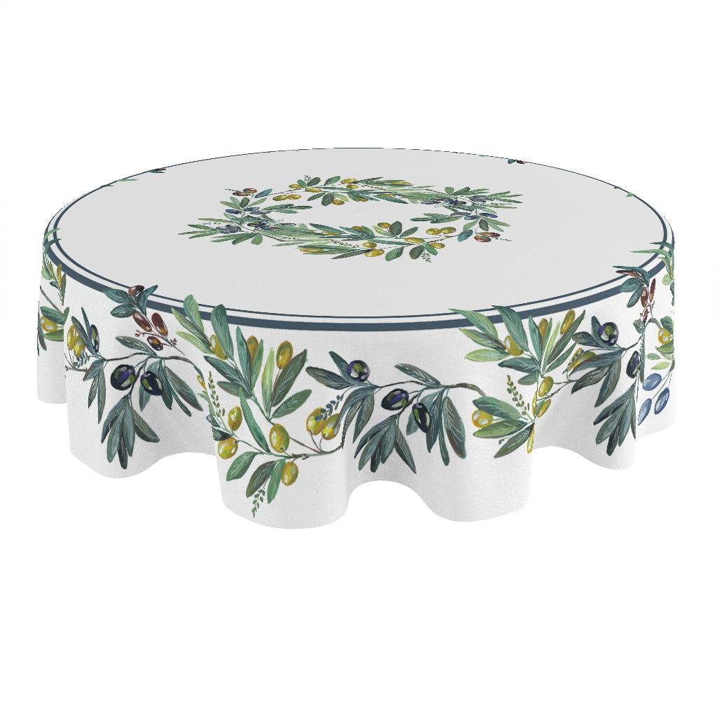 Olive Grove Round Tablecloth