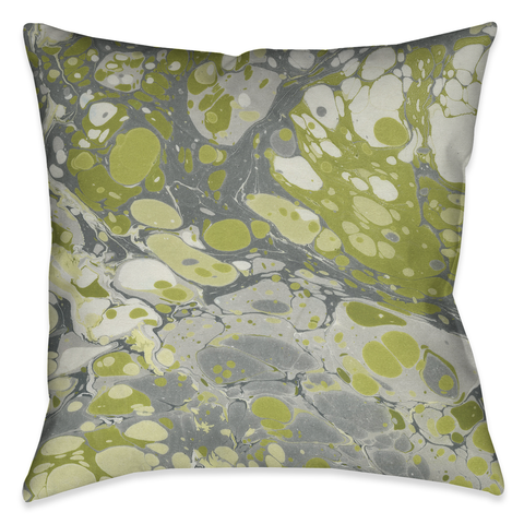 Olive Marble Outdoor Decorative Pillow