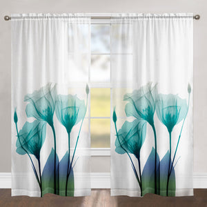 Ombre Bloom Sheer Window Panel