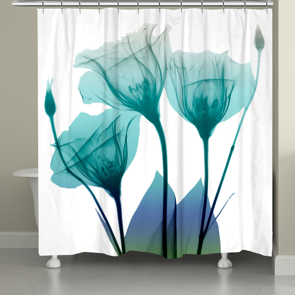 Ombre Bloom Shower Curtain