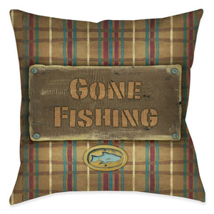 Gone Fishing Pillow