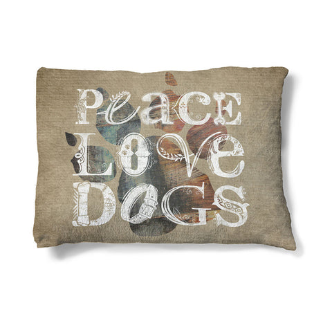 "Peace Love Dogs 30"" x 40"" Fleece Dog Bed"
