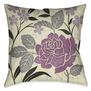 Perfect Petals II Lavender Indoor Decorative Pillow