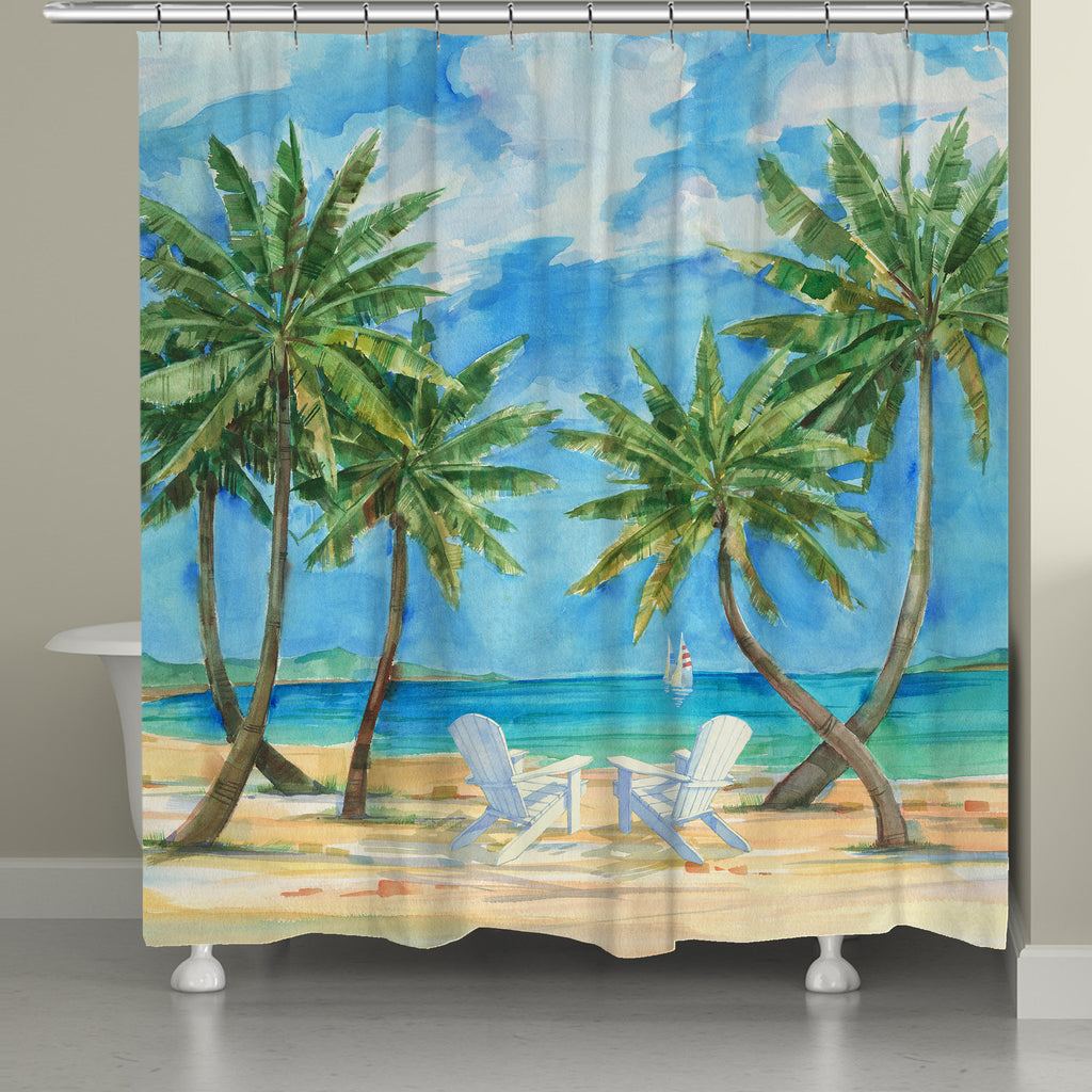 Palmas Belize Shower Curtain