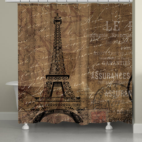 Paris Travel Shower Curtain