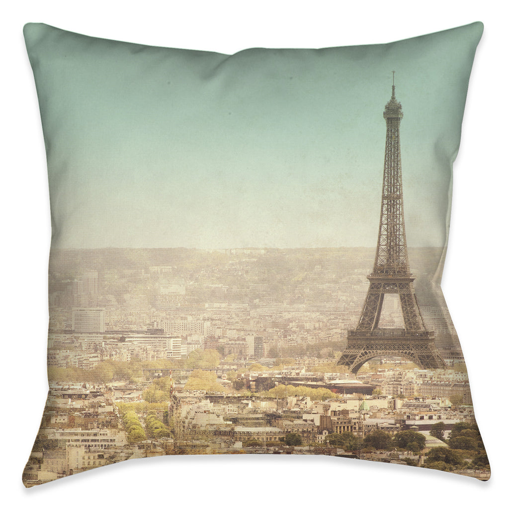 Eiffel Tower Landscape Pillow