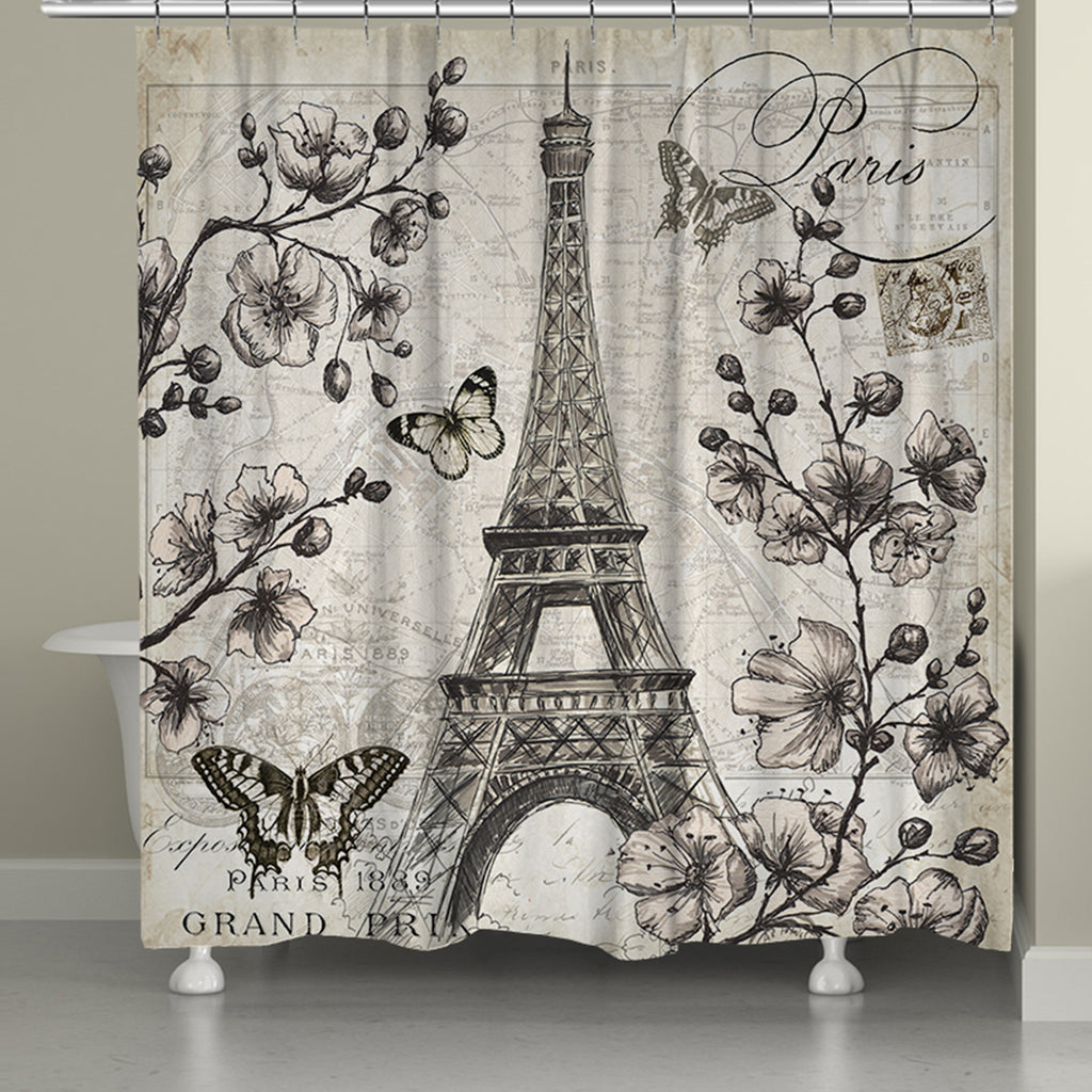 Captivating Paris In Bloom Shower Curtain