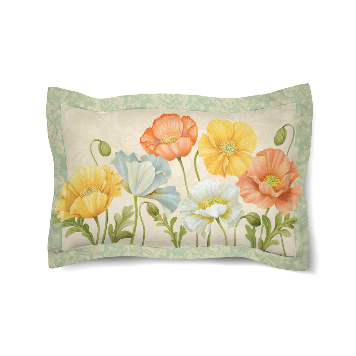 Pastel Poppies Duvet Sham