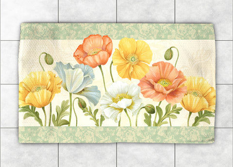 Pastel Poppies Accent Rug