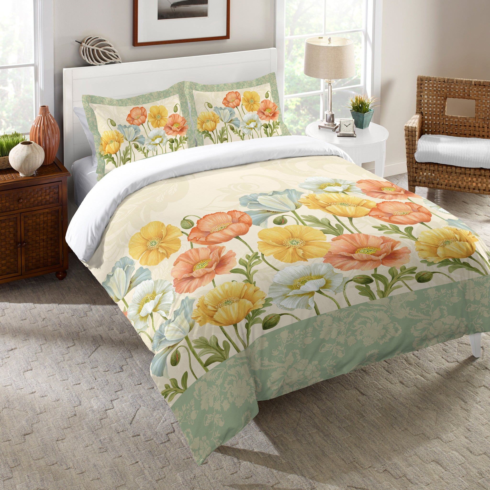 Pastel Poppies Comforter Laural Home