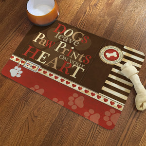 Paw Prints Pet Mat