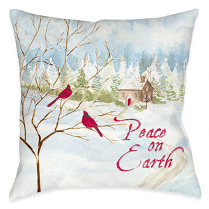 Peace on Earth Indoor Decorative Pillow