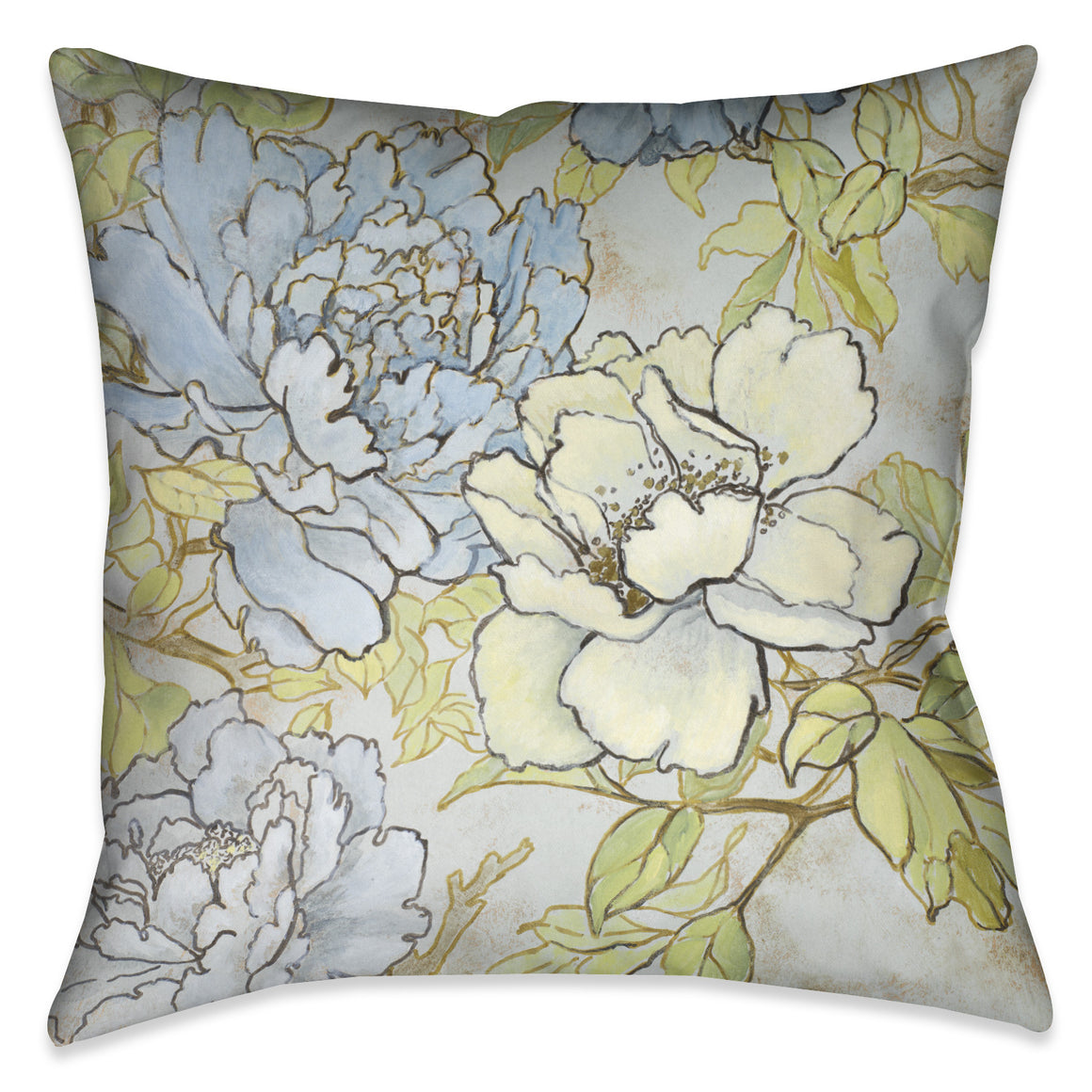 Peony Fascination II Indoor Decorative Pillow