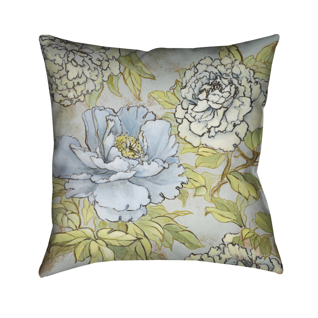 Peony Fascination I Indoor Decorative Pillow