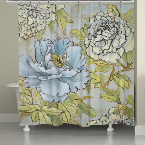 Peony Fascination Shower Curtain