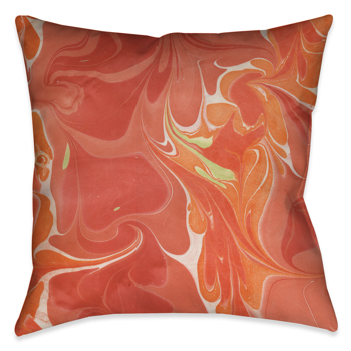 Persimmon II Marble Outdoor Decorative Pillow